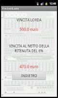 Screenshot of Il gioco del LOTTO