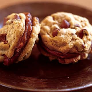 Milk Chocolate-Peanut Butter Sandwich Cookies.