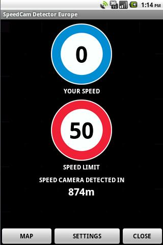 SpeedCam Detector Worldwide - screenshot