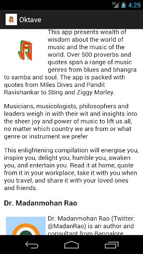Oktav Music Quotes Proverbs