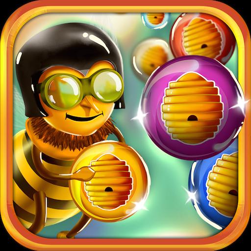 蜜蜂泡泡射擊 休閒 LOGO-玩APPs