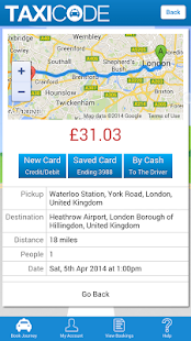 Taxicode - UK Taxi Booking App- screenshot thumbnail
