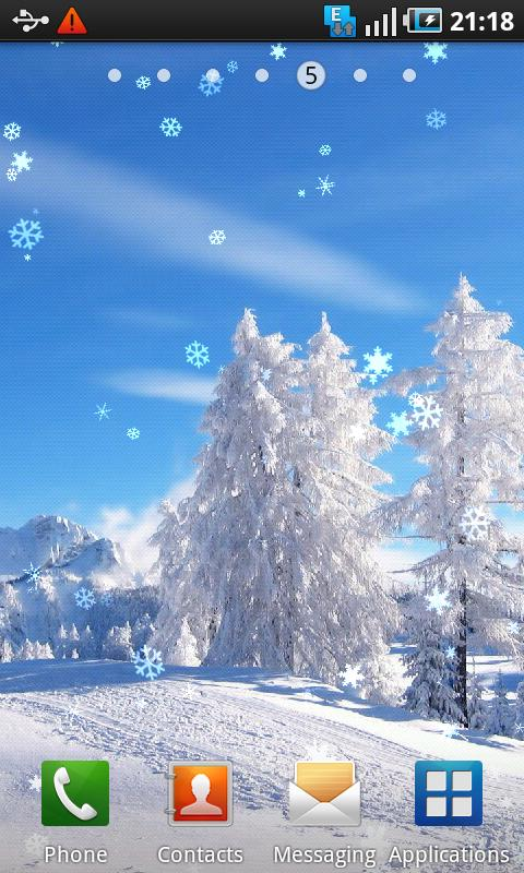 photo snow live wallpaper android apps on google play