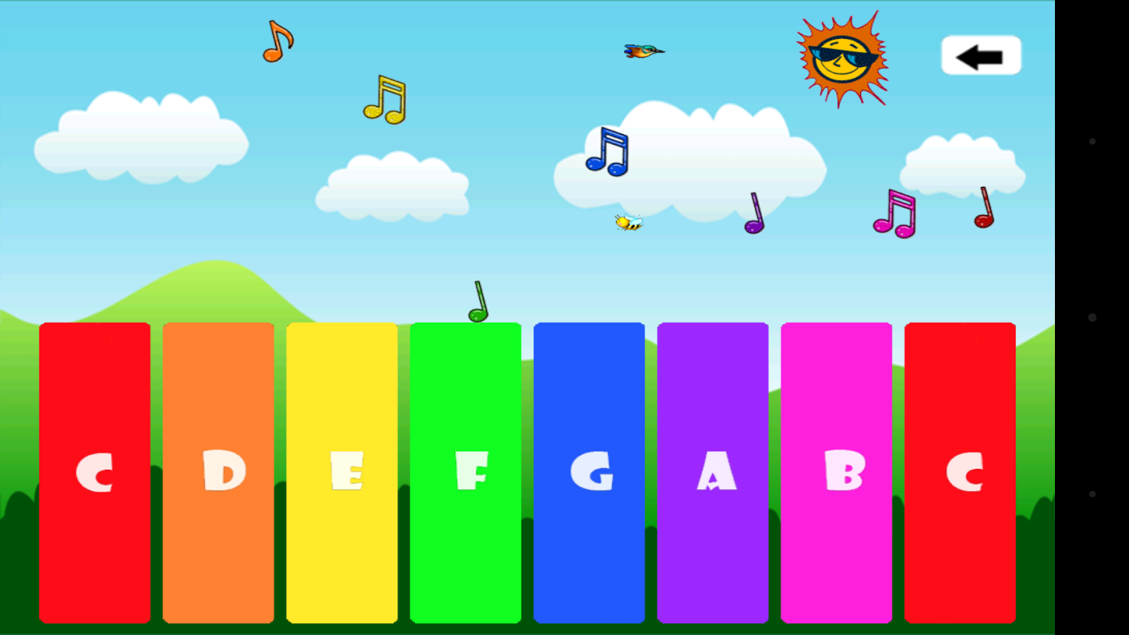 fun kids piano screenshot