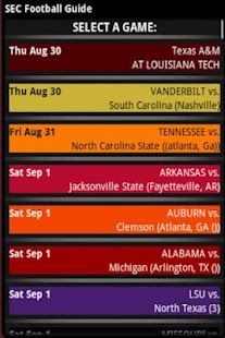 SEC Football Guide 2013 - screenshot thumbnail