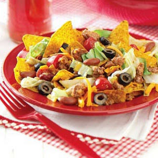 Taco Salad for a Large Crowd.