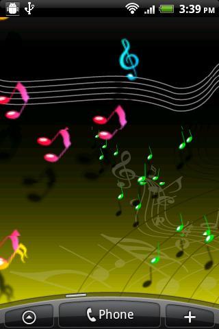 Live Musical Note Wallpaper - screenshot