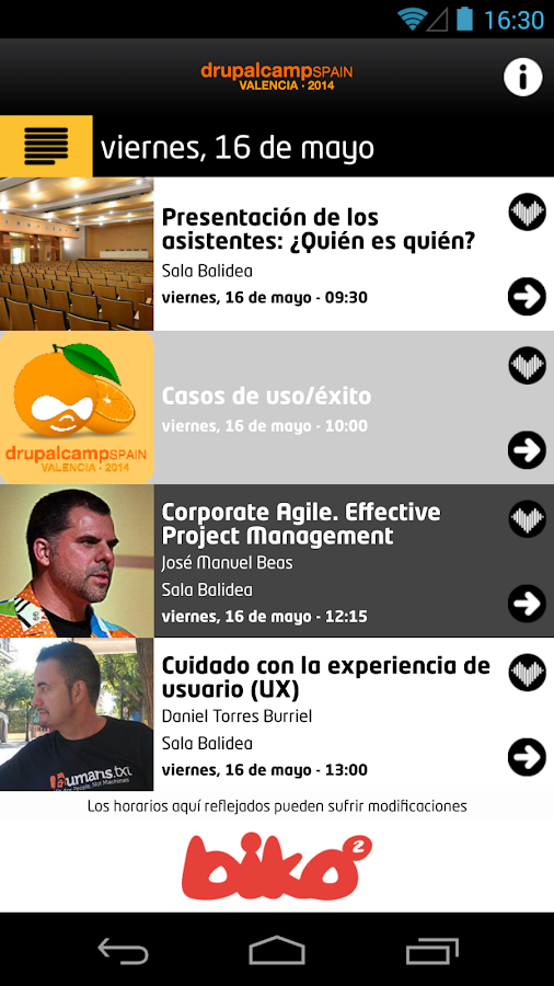 Drupalcamp Spain 2014- screenshot