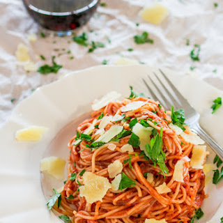 Spaghettini in Blush Sauce.