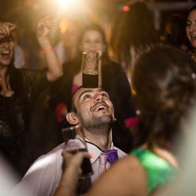 Equilibrium by Jorge Asad - Wedding Reception ( happy, wedding, night, celebration, party, people, dance )