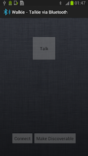 Walkie - Talkie via Bluetooth- screenshot thumbnail