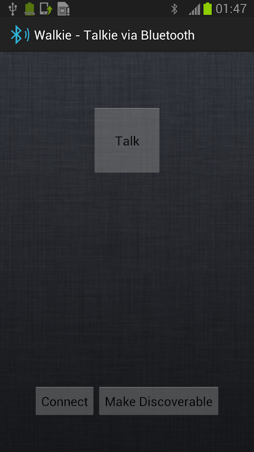 Walkie - Talkie via Bluetooth - screenshot
