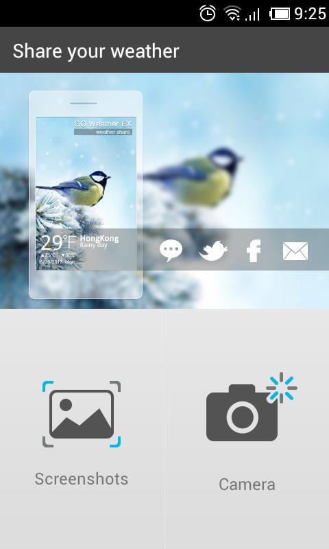 Camera Share GO Weather EX - screenshot