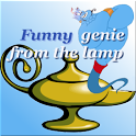 Funny genie from the lamp icon