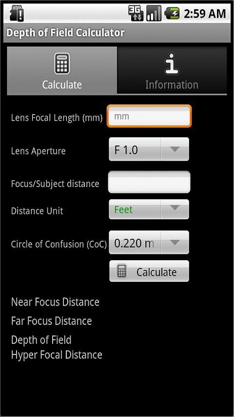 Photography Calculators Pro - screenshot