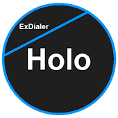 ExDialer Theme Flat Holo Blue