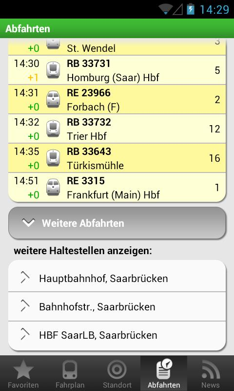 Saarfahrplan- screenshot