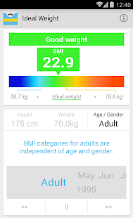 Ideal Weight, BMI Calculator- screenshot thumbnail