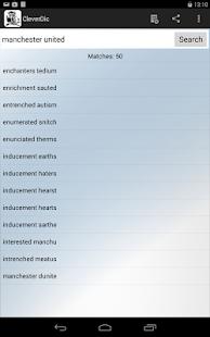 CleverDic Crossword Solver - screenshot thumbnail