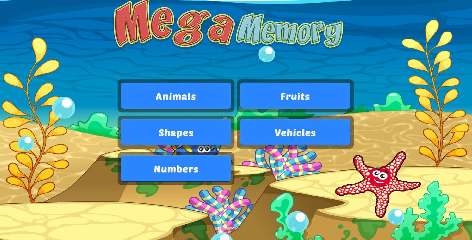 Mega Memory for Kids - screenshot