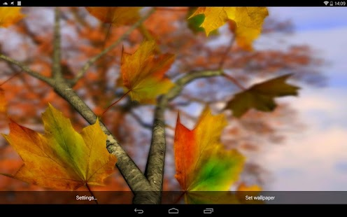 Autumn Leaves in HD Gyro 3D Parallax Wallpaper Screenshot