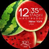 Watermelon clock wallpaper HD