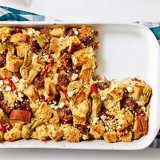 Sausage & Goat Cheese Strata