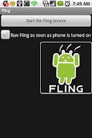 Screenshot of fling