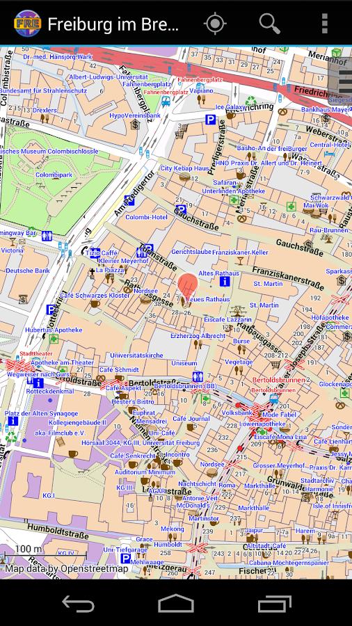 Küchenschelle Freiburg Maps ~ freiburg im breisgau city map android apps on google play