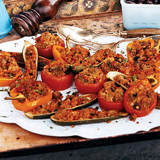 Eggplant-and-Bulgur-Stuffed Vegetables