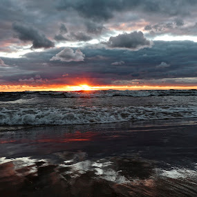 The End by Jeremy Church - Landscapes Sunsets & Sunrises ( water, clouds, beaches, michigan, lake michigan, sunsets )