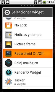 Widget for Radardroid Pro - screenshot thumbnail