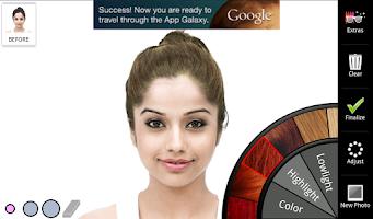 Screenshot of Hair Color