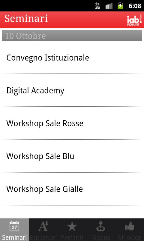 IAB Forum Milano 2012 - screenshot
