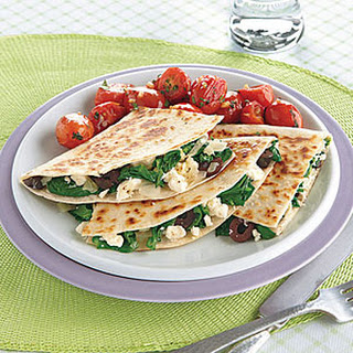Spinach and Feta Quesadillas.