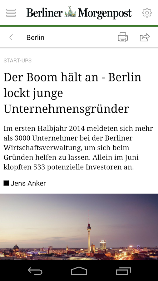 Berliner Morgenpost - News – Screenshot