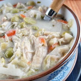 Thai Coconut Chicken Noodle Soup.