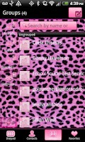 Screenshot of GO Contacts Pink Cheetah Theme