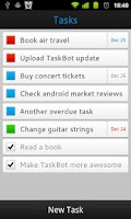 Screenshot of TaskBot - To-do List