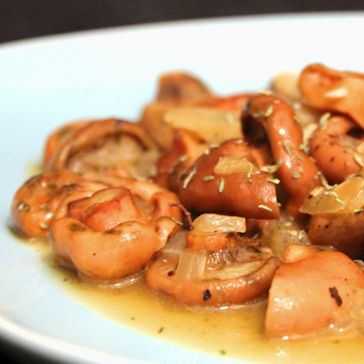 Stewed Milky Cap Mushrooms