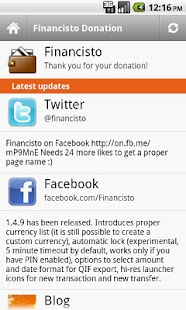 Financisto Donation - screenshot thumbnail