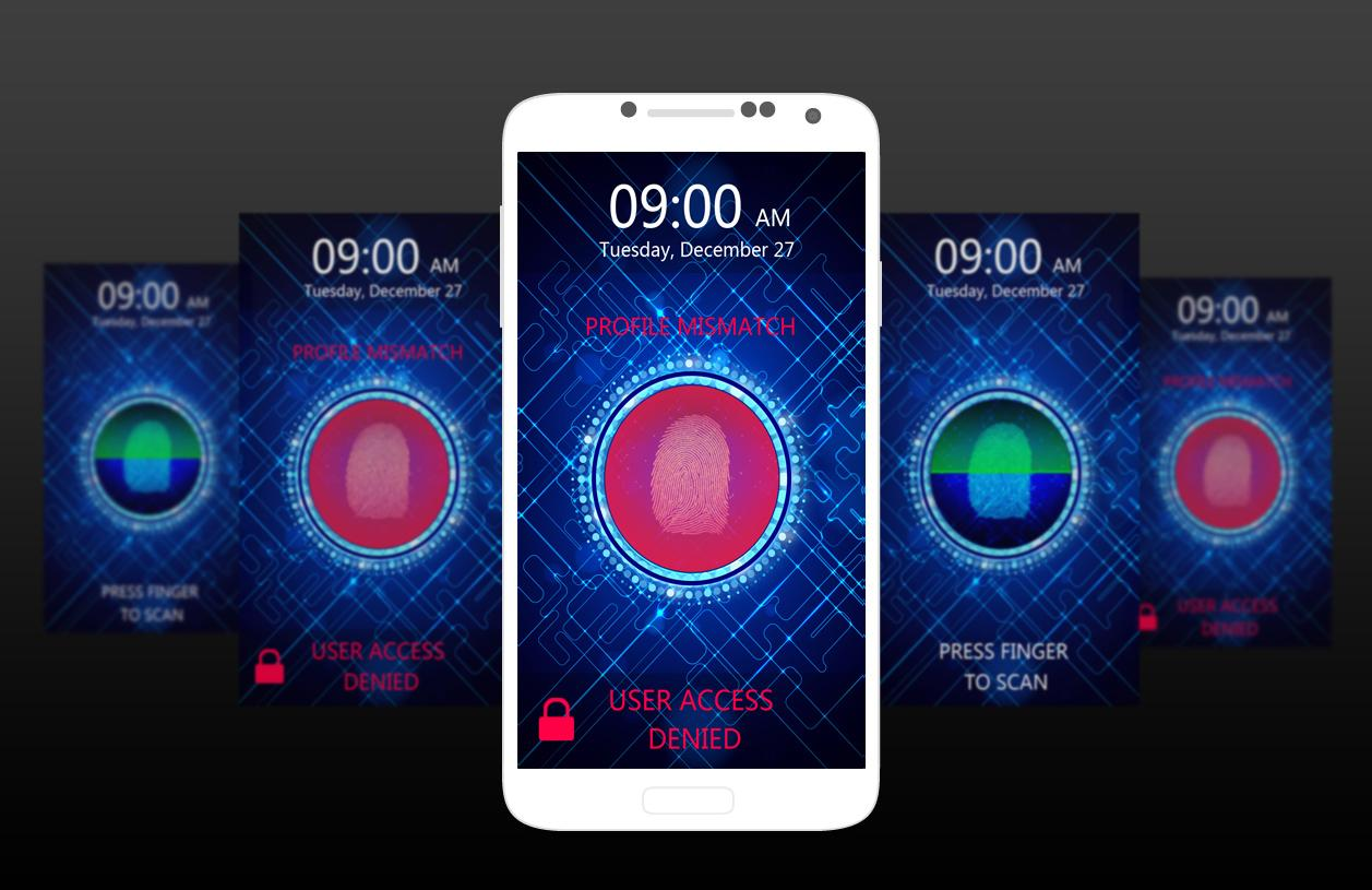 Camera Android Phone Lock Software fingerprint lock screen prank android apps on google play screenshot