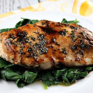 Balsamic- Glazed Chicken.