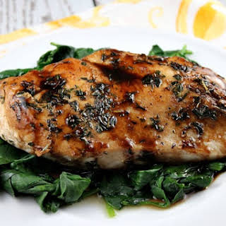 Balsamic- Glazed Chicken.