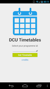 DCU Timetables - screenshot thumbnail