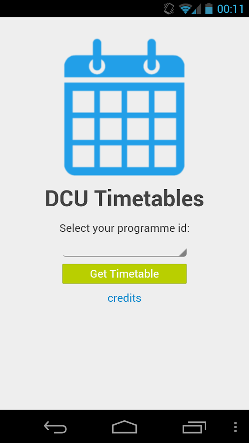 DCU Timetables - screenshot