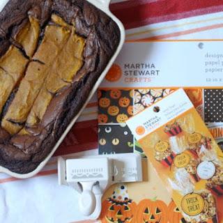 Pumpkin Swirl Brownies.