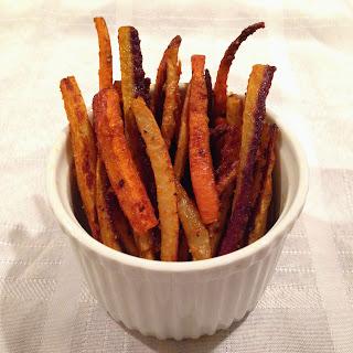 Cajun Rainbow Carrot Fries.