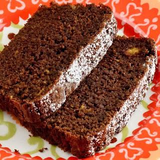 Chocolate, Banana & Fresh Ginger Tea Loaf