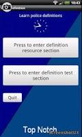 Screenshot of Police UK law definitions v2